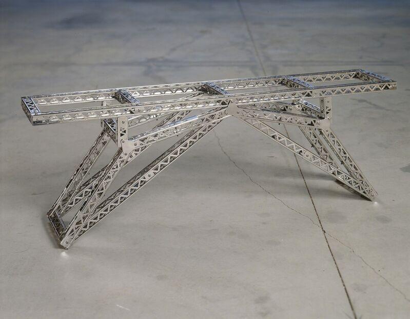 Chris Burden, 'Indo-China Bridge', 2002, Sculpture, Stainless steel reproduction Mysto Type I Erector parts, Gagosian