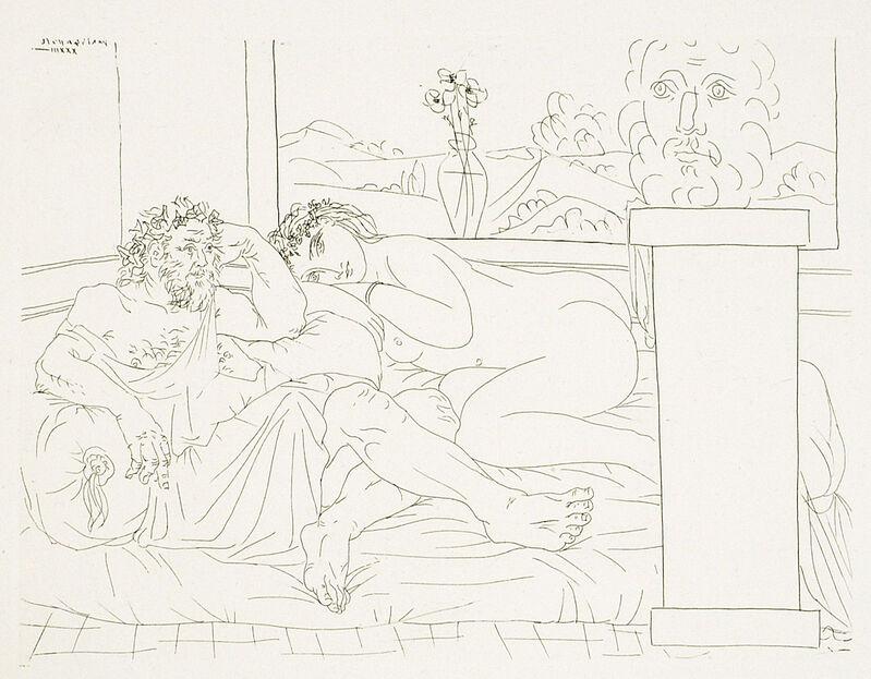 Pablo Picasso, 'LE REPOS DU SCULPTEUR, IV (B. 174; G/B 327; S.V. 65)', 1933, Print, Etching on Montval laid paper, Marc Rosen Fine Art Ltd