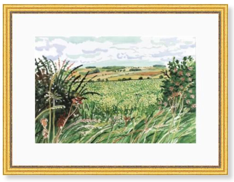 David Hockney, 'A Gap in the Hedgerow', 2004, Print, Accent Fresco (Gesso), textured uncoated paper, manufactured from 100% ECF virgin (Elemental Chlorine Free) fibre. FSC Certified. Acid Free, Modern-Originals