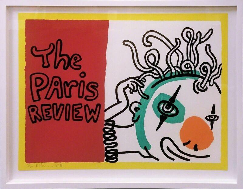 Keith Haring, 'PARIS REVIEW', 1989, Print, SCREENPRINT, Gallery Art