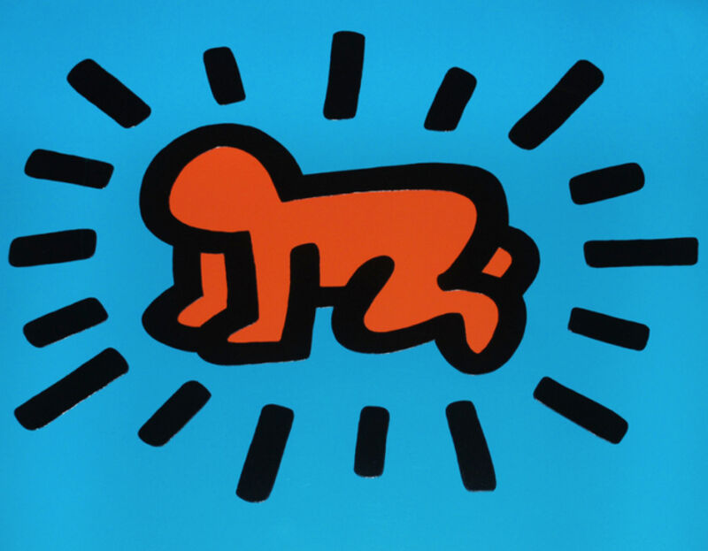 Keith Haring, 'Icons: (A) Radiant Baby', 1990, Print, Screenprint with embossing on paper, Taglialatella Galleries