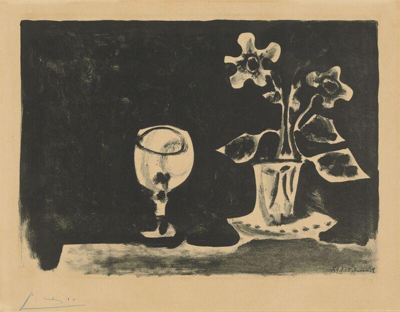 Pablo Picasso, 'Nature morte au verre et fleurs', 1947, Print, Lithograph on Arches wove paper, Christie's