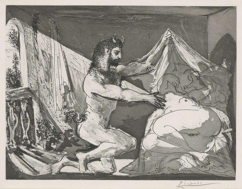 Pablo Picasso, 'Faune devoilant une femme, from: La Suite Vollard', 1936, Print, Aquatint on Montval laid paper, Christie's