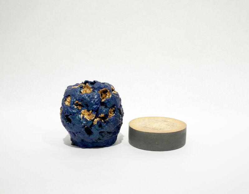 CHIAOZZA, 'Muumi Sezuki', 2016, Sculpture, Matte acrylic paint, metal leaf, glitter and gloss medium on paper pulp, with pigmented concrete base, Owen James Gallery