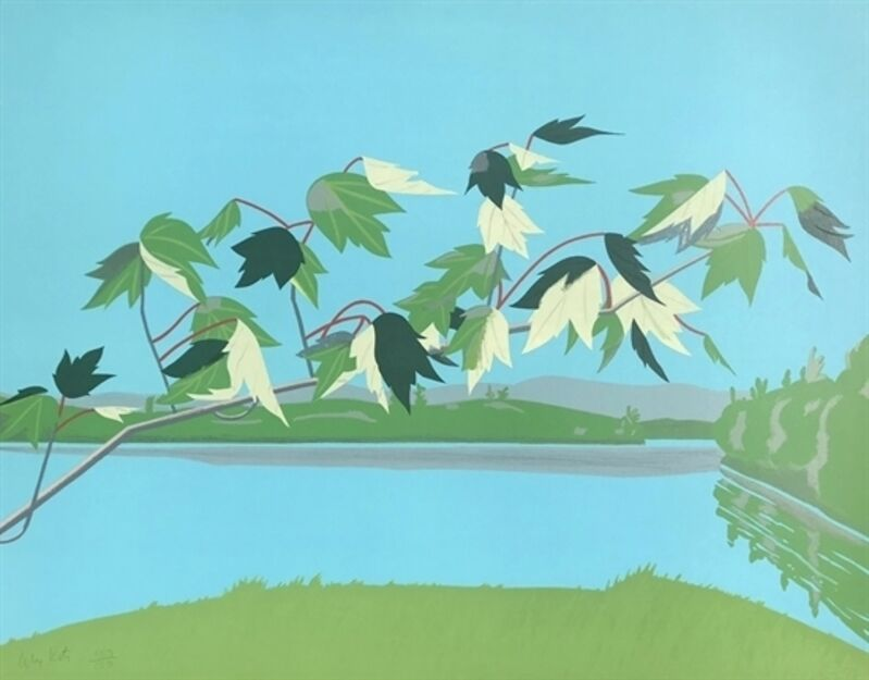Alex Katz, 'Late July I', 1971, Print, Lithograph in colors on Arches paper, West Chelsea Contemporary