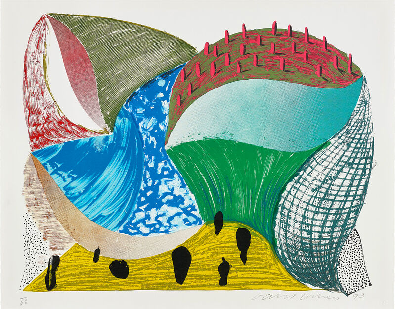 David Hockney, 'Gorge d'Incre', 1993, Print, Lithograph and screen print, Oliver Clatworthy