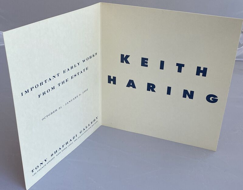 """Keith Haring, 'Keith Haring """"Important Early Works from the Estate"""" (1991 Haring Shafrazi announcement) ', 1991, Ephemera or Merchandise, Offset printed gallery announcement, Lot 180"""