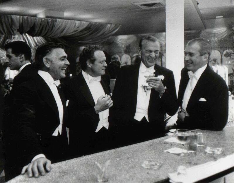 Slim Aarons, 'Kings of Hollywood: Clark Gable, Van Heflin, Gary Cooper, and James Stewart at Romanoff's in Beverly Hills, California', 1957, Photography, Gelatin Silver Print, Staley-Wise Gallery