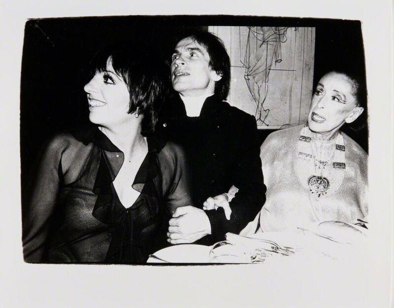 Andy Warhol, 'Andy Warhol, Photograph of Liza Minnelli, Rudolf Nureyev and Martha Graham, 1980', 1980, Photography, Silver gelatin print, Hedges Projects