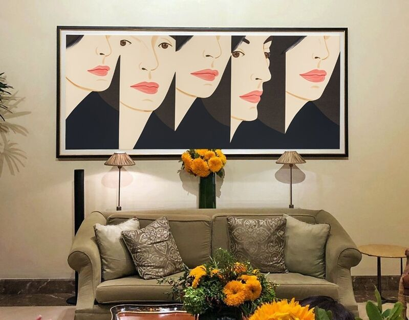 Alex Katz, 'Vivien X 5', 2018, Print, Color silkscreen on Saunders Waterford 425 gsm paper. Hand signed by the artist, Meyerovich Gallery