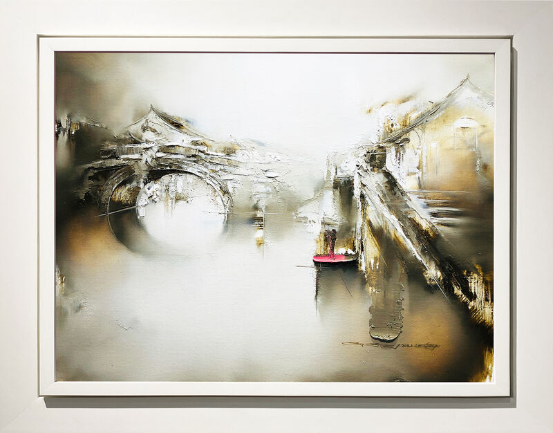 Gao Xiao Yun 高小云, 'Afterglow of Sunset 斜晖悠悠', 2021, Painting, Oil on canvas, Art WeMe Contemporary Gallery