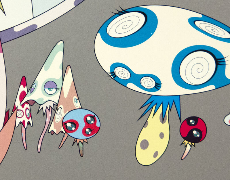 Takashi Murakami, 'Here Comes Media', 2001, Print, Offset lithograph in colors, Heather James Fine Art