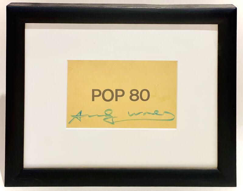 Andy Warhol, 'POP 80 Exhibition Postcard', 1980, Ephemera or Merchandise, Printed invitation on metallic postcard stock, Woodward Gallery