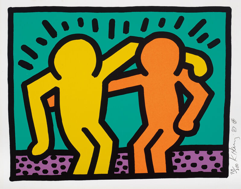 Keith Haring, 'Pop Shop I: one plate', 1987, Print, Screenprint in colours, on Coventry Rag paper, with full margins., Phillips