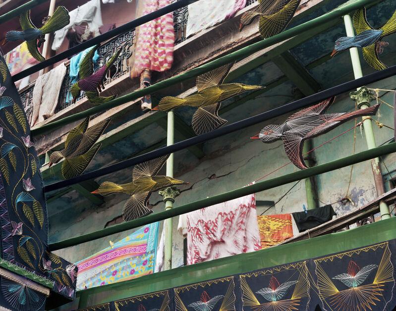 Laura McPhee, 'Handmade Decorations on the Sovabazar Beniatola Pandal (Impermanent Temple), Durga Puja, North Kolkata', 2009, Photography, Archival pigment ink print, Benrubi Gallery