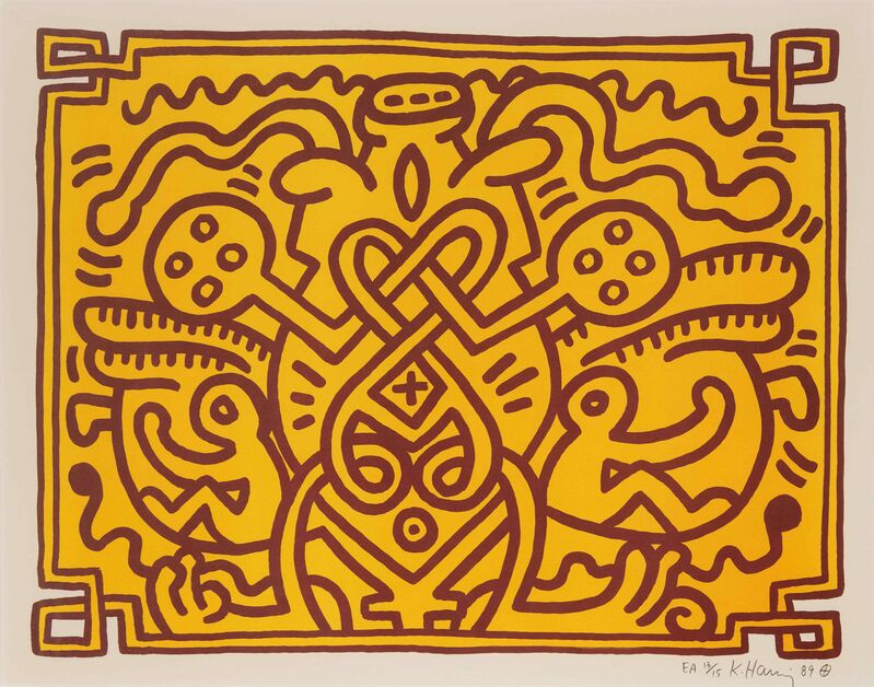 Keith Haring, 'Chocolate Buddha', 1989, Print, Color lithograph, Hindman