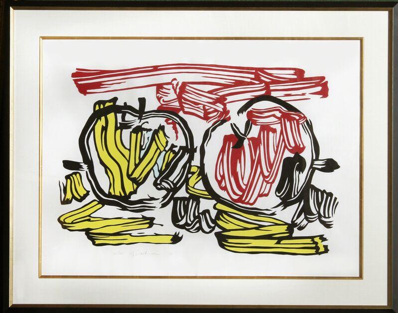 Roy Lichtenstein, 'Red Apple and Yellow Apple ', 1983, Print, Woodcut on handmade Iwano Kizuki Hosho paper, RoGallery