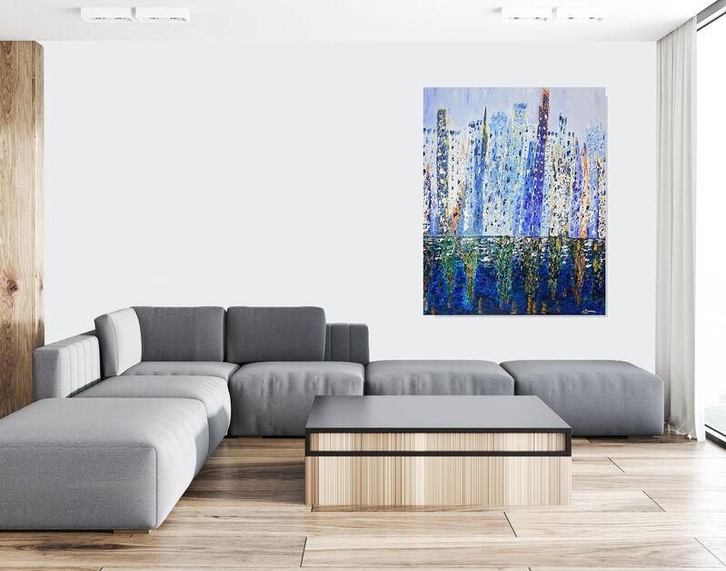 Joëlle Darmon, 'Reflets', 2020, Painting, Techniques mixtes, Galerie Libre Est L'Art