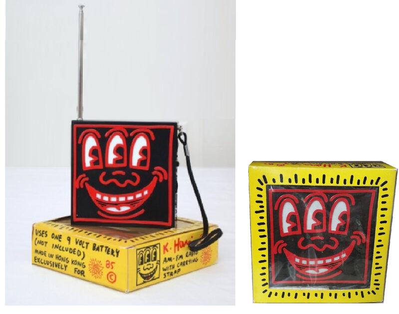 Keith Haring, 'POP SHOP- AM/FM Radio, (red), Original Packaging', 1985, Sculpture, Plastic, VINCE fine arts/ephemera