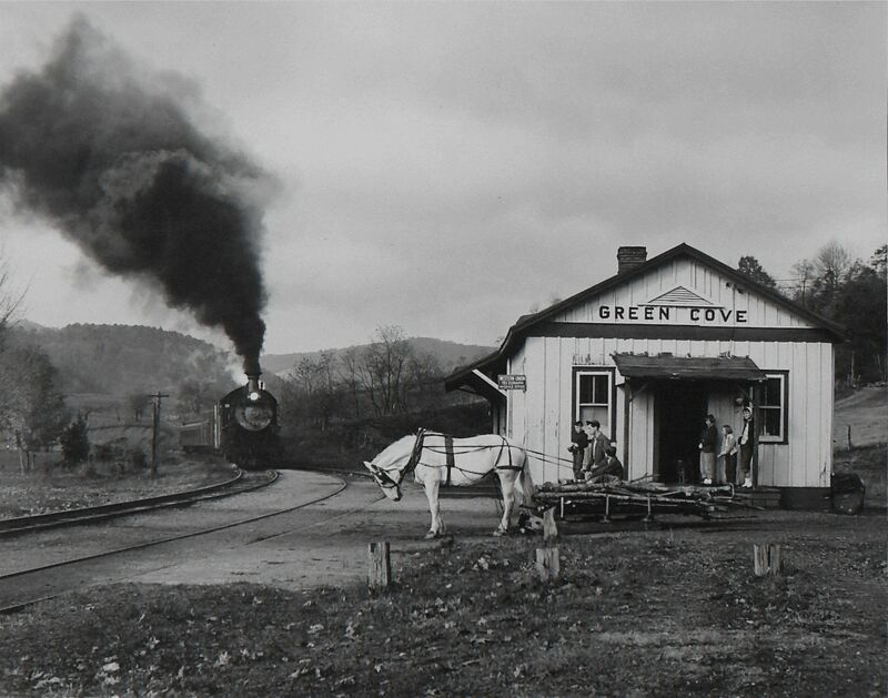 O. Winston Link, 'Maud Bows to the VirginiaCrepper', 1956, Photography, Silver gelatin print, Danziger Gallery