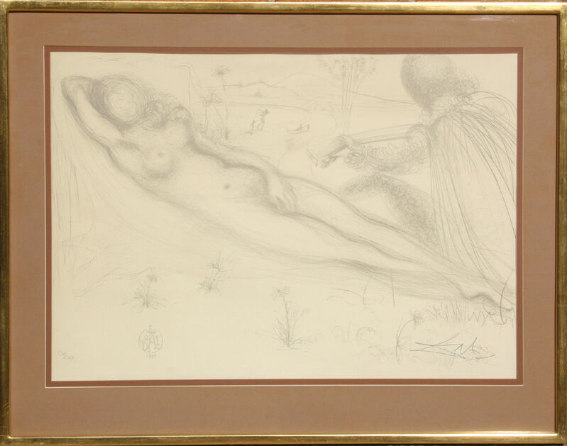 Salvador Dalí, 'Nu a la Guittarre (Serenade)', 1970, Print, Lithograph on Rives, RoGallery