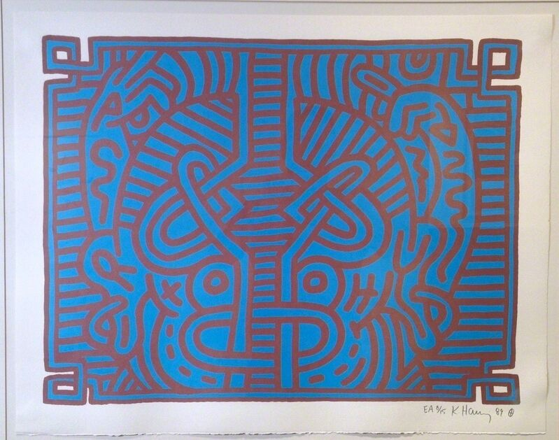 Keith Haring, 'Chocolate Buddha #1', 1989, Print, Lithograph, Vertu Fine Art