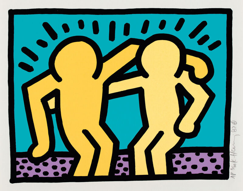 Keith Haring, 'Pop Shop I: one plate', 1987, Print, Screenprint in colors, on Coventry rag paper, with full margins, the colors slightly attenuated., Phillips