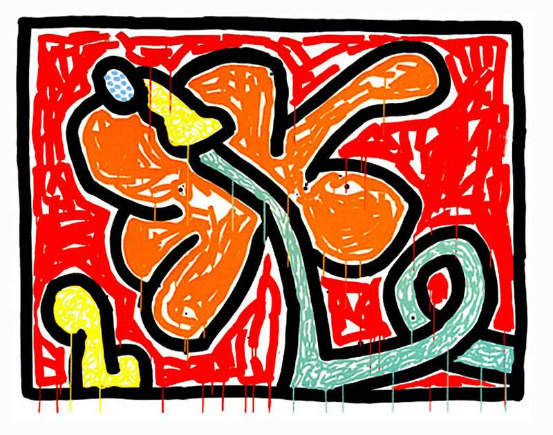 Keith Haring, 'Flowers V', 1990, Print, Silkscreen on paper, Taglialatella Galleries