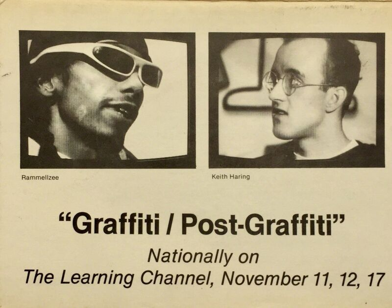 Keith Haring, 'Basquiat, Keith Haring 1980s graffiti announcement (Graffiti/Post Graffiti) ', 1984, Ephemera or Merchandise, Offset printed announcement, Lot 180