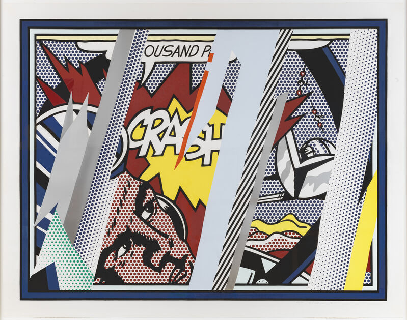 Roy Lichtenstein, 'Reflections on Crash', 1990, Print, Lithograph, screenprint, relief, and metallic PVC collage with embossing., Sims Reed Gallery
