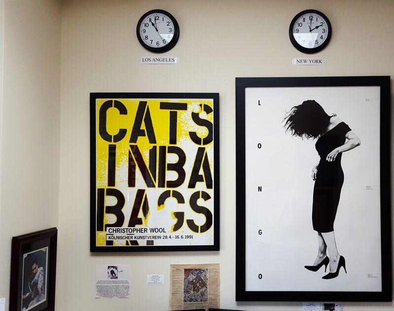 Christopher Wool, 'Kölnischer Kunstverein (Cats in Bags, Bags in River)', 1991, Posters, Offset-Lithograph, Exhibition Poster, Graves International Art
