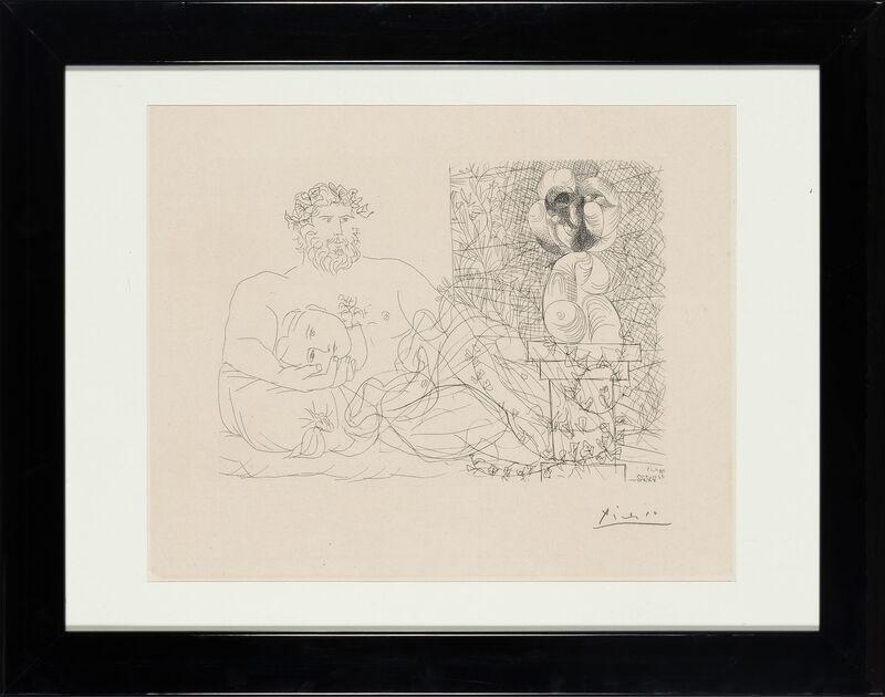 Pablo Picasso, 'LE REPOS DU SCULPTEUR ET LA SCULPTURE SURRÉALISTE (B. 169)', 1933, Print, Etching on Montval laid paper with the Vollard watermark, Doyle