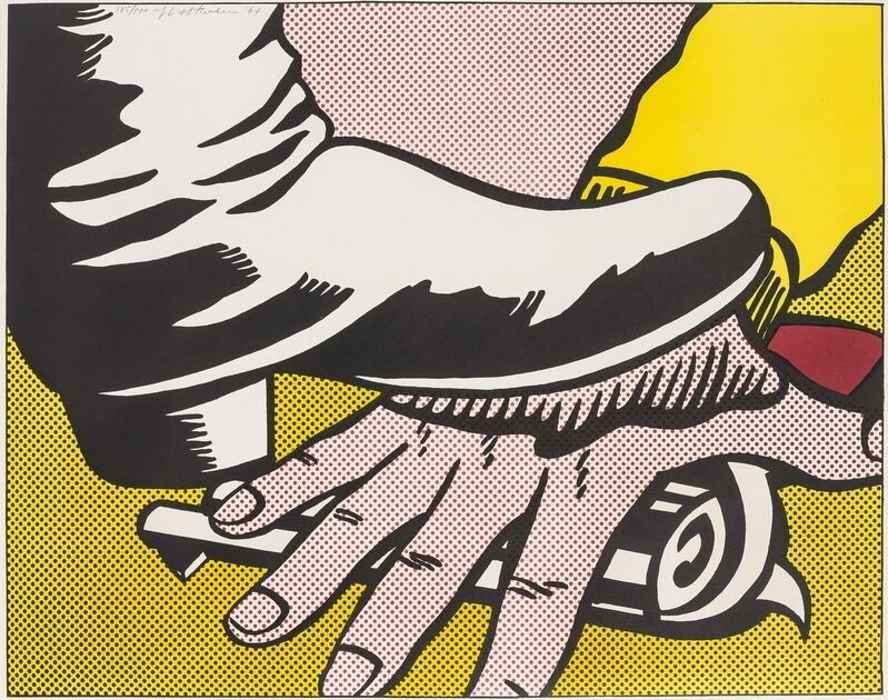 Roy Lichtenstein, 'Foot and Hand (Corlett II.4)', 1964, Print, Offset lithograph printed in colours, Forum Auctions