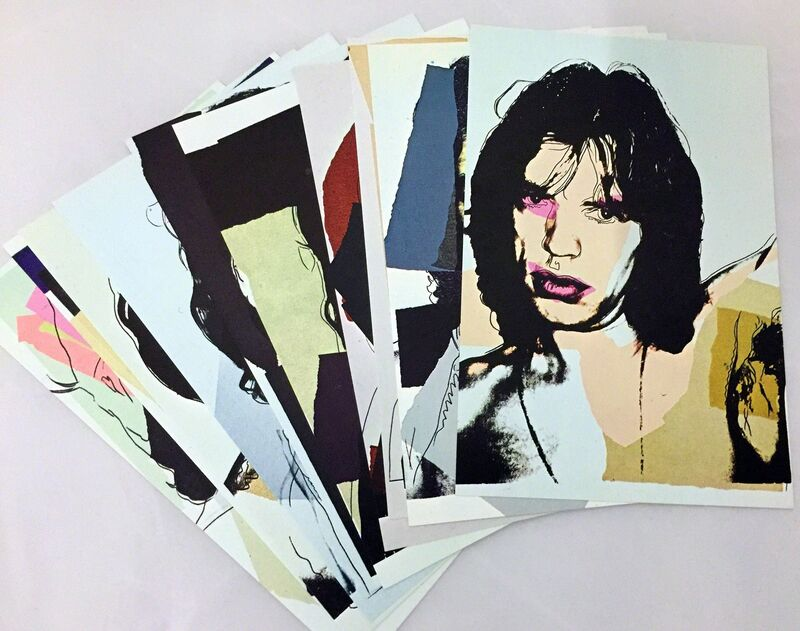 Andy Warhol, 'Andy Warhol Mick Jagger complete set of 10 Leo Castelli announcements ', 1975, Ephemera or Merchandise, Offset lithographs in colors on cream wove paper, Lot 180