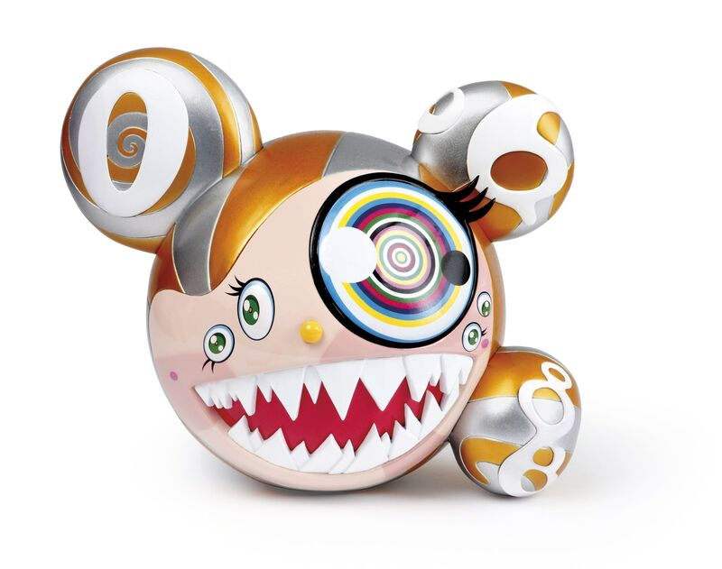 Takashi Murakami, 'Mr DOB Figure By BAIT x SWITCH Collectibles - Gold edition (Signed)', 2016, Sculpture, Vinyl toy, Lougher Contemporary