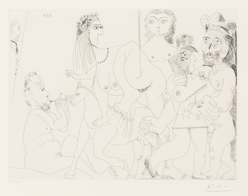 Pablo Picasso, 'Degas imaginant, from La Séries 156', 1971, Print, Etching on wove paper, printed 1978, Heritage Auctions