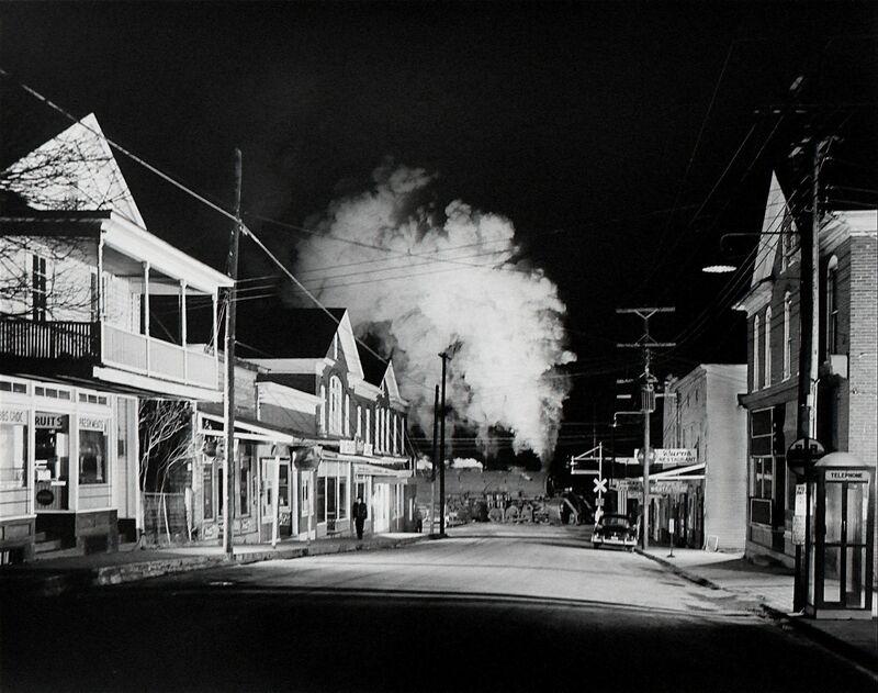 O. Winston Link, 'Officer Painter Patrols Main Street, Stanley, Virginia', 1956, Photography, Silver gelatin print, Danziger Gallery