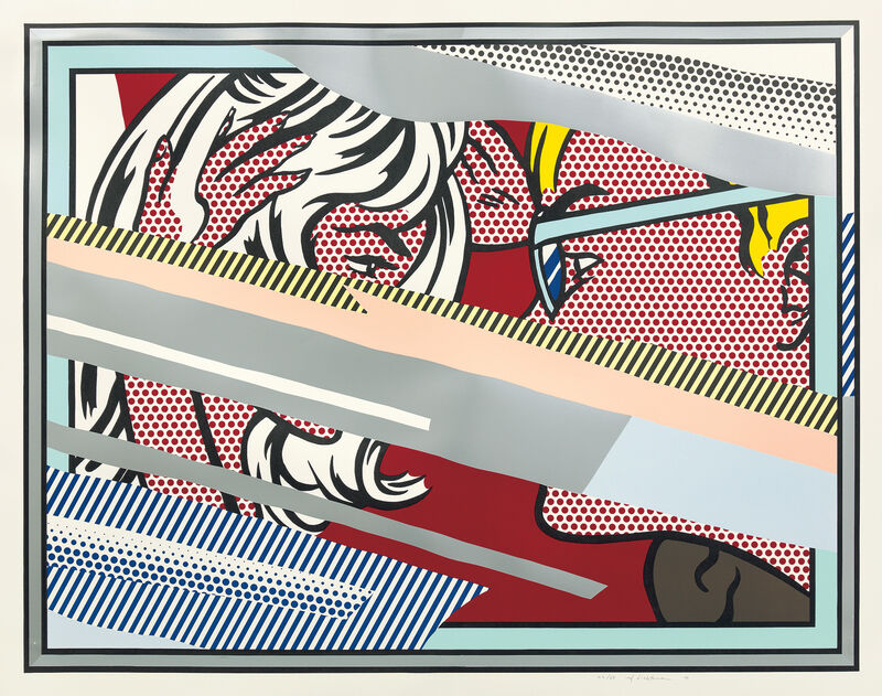 Roy Lichtenstein, 'Reflections on Conversation, from Reflections Series', 1990, Print, Lithograph, screenprint, woodcut, relief and metalized PVC collage with embossing in colors, on Somerset paper, with full margins., Phillips