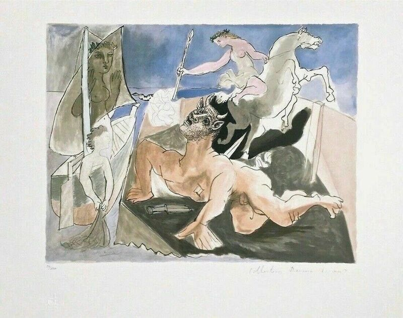 Pablo Picasso, 'Composition with Minotaur', 1979, Reproduction, Lithograph on Arches paper, Art Commerce