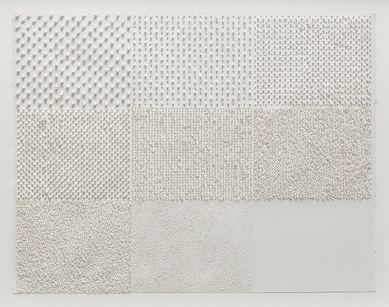 Lars Christensen, 'White Structure / Manual #1', 2014, Drawing, Collage or other Work on Paper, Acrylic on paper, Anne Mosseri-Marlio Galerie