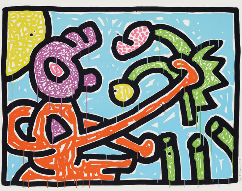 Keith Haring, 'Flowers (1)', 1990, Print, Silkscreen ink on Coventry Paper, Fine Art Mia