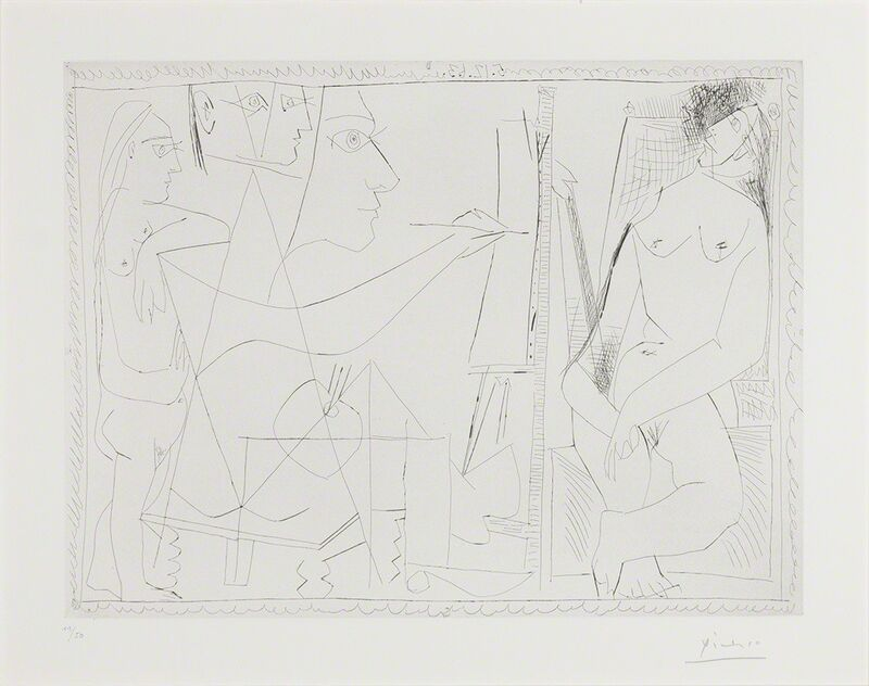 Pablo Picasso, 'Dans L'Atelier (B. 1140)', 1963, Print, Etching and drypoint, on wove paper, Doyle