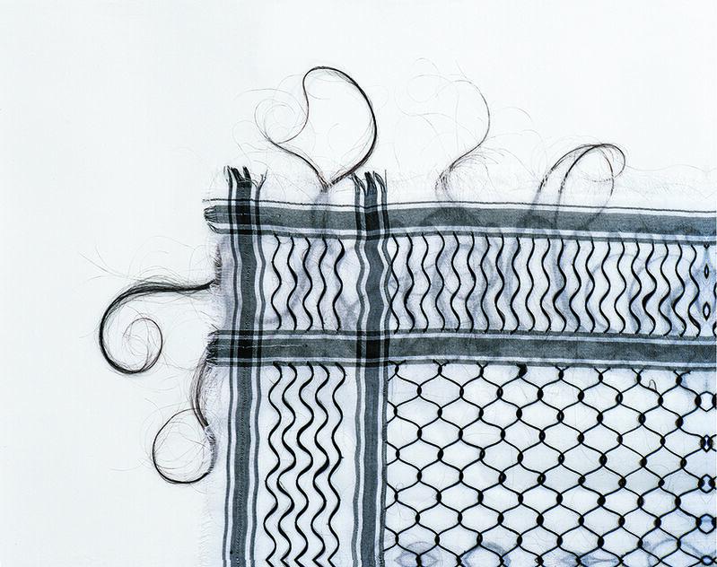 Mona Hatoum, 'Keffieh', 1993-1999, Mixed Media, Hair on cotton fabric, Centre Pompidou