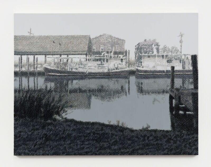 Wayne Gonzales, 'Oyster Boats, Yscloskey, Louisiana', 2019, Painting, Acrylic on canvas, Stephen Friedman Gallery