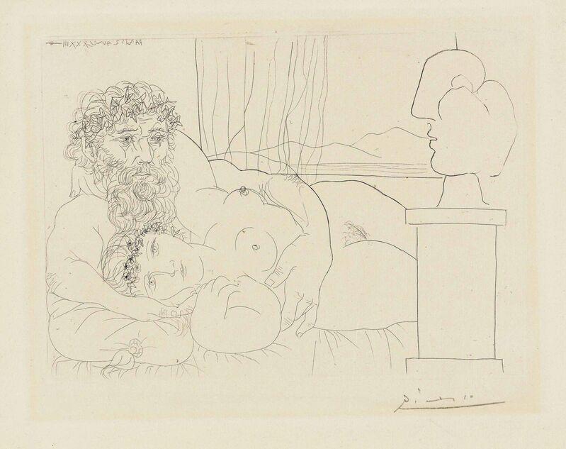 Pablo Picasso, 'Le repos du sculpteur I, from: La Suite Vollard', 1933, Print, Etching on Montval laid paper, Christie's