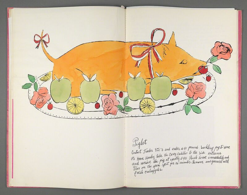 Andy Warhol, 'Wild Raspberries', 1959, Books and Portfolios, Bound artist's book (cookbook), litho-offset, hand coloring throughout with tissue overlays, Williams College Museum of Art