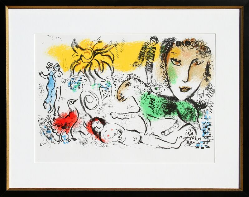 Marc Chagall, 'Homecoming from XXe Siecle. Chagall Monumental', 1973, Print, Lithograph, RoGallery