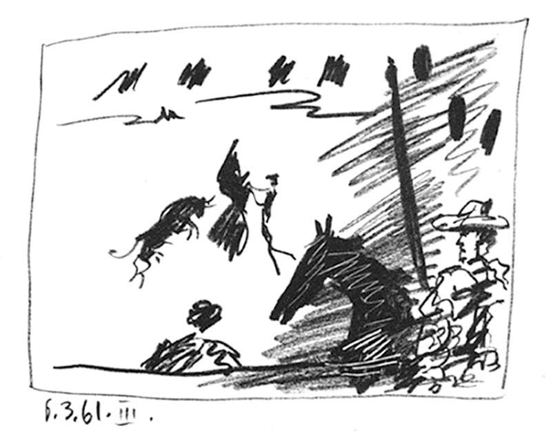 Pablo Picasso, 'Jeu de la Cape', 1961, Print, Lithograph in black ink, michael lisi / contemporary art
