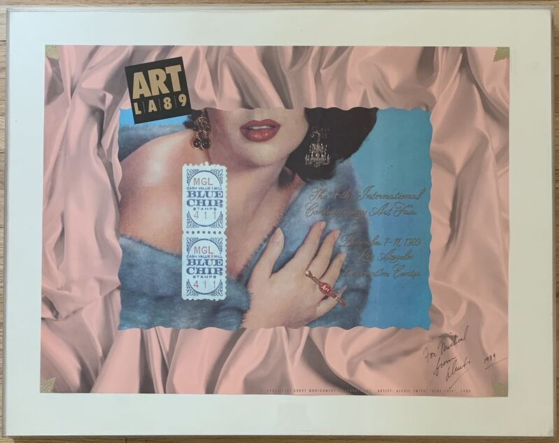 Alexis Smith, 'Blue Chip (Original Signed Lithographic Poster)', 1989, Posters, Offset lithograph, Kwiat Art