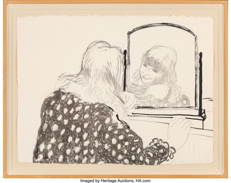 David Hockney, 'Ann Combing Her Hair', 1979, Print, Lithograph on hand-made HMP Koller paper, Heritage Auctions
